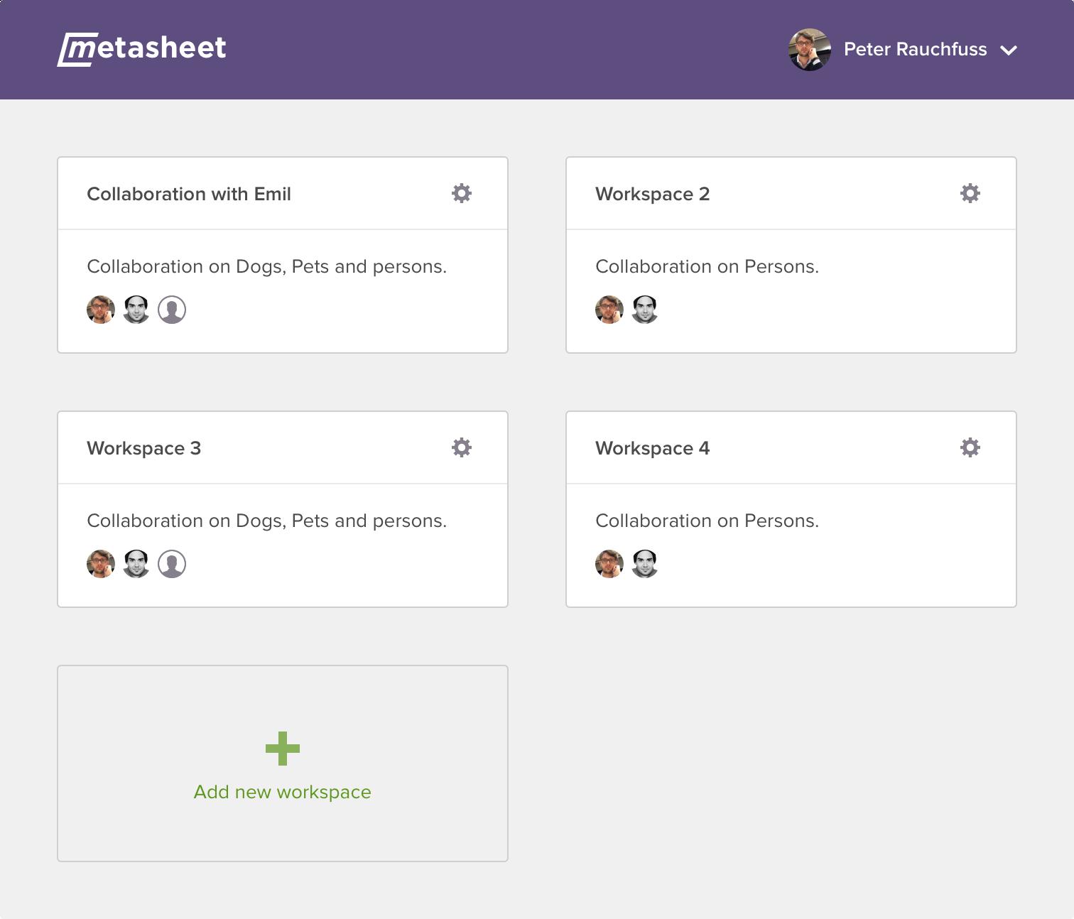 Metasheet - Product design